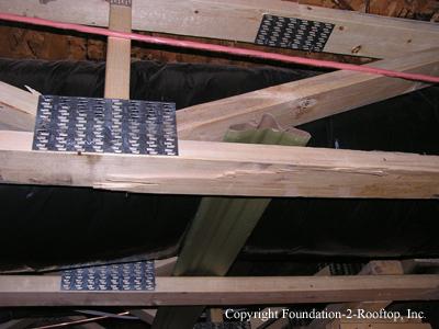 Cracked floor truss.