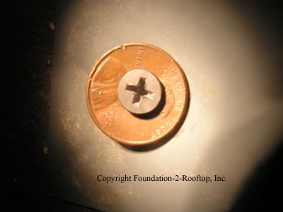 A penny used as a washer.