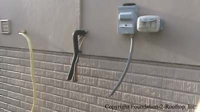 Air conditioner was stolen.