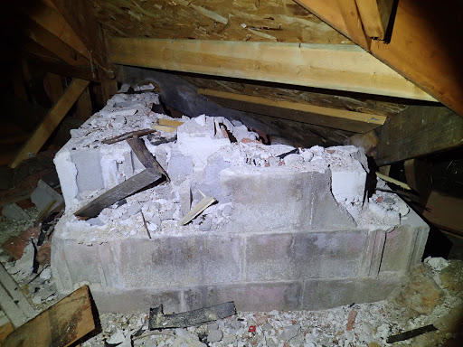 Chimney Inspection Finds Chimney Partially Removed With Active Fireplaces